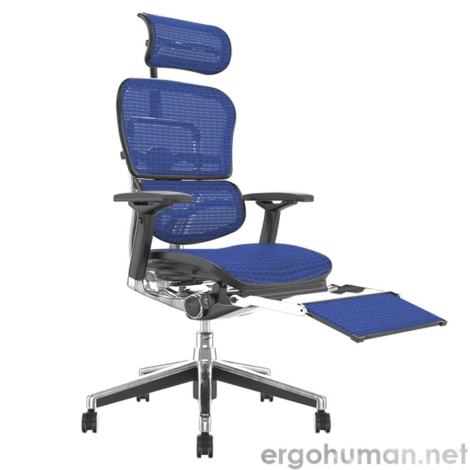Ergohuman Elite Mesh Office Chair with Leg Rest